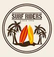 surf design vector image vector image