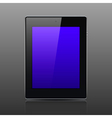 Tablet computer black color vector image vector image