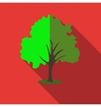 Tree with green crown icon flat style vector image vector image