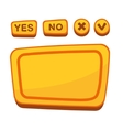UI Buttons Set for Agreement Panel in Cartoon vector image vector image