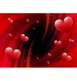 Valentines Day card with abstract vortex vector image