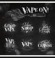 vape symbols chalk vector image vector image