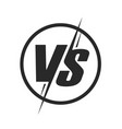 vs or versus logo icon for battle or fight game vector image vector image