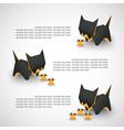 cat origami vector image
