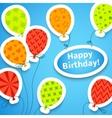 Happy birthday colorful applique background vector image