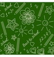 Back to school chalk-drawn seamless pattern vector image