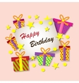 Happy Birthday Greeting Card Colorful festive vector image
