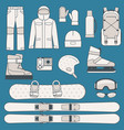 winter sports and activities icon set vector image