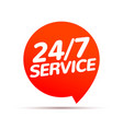 24 hour 7 day service available support service vector image