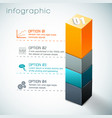 3d colorful column infographics vector image vector image