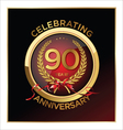 90 years anniversary label vector image vector image