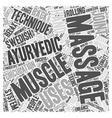 A Choice between Swedish and Ayurvedic Massage vector image vector image