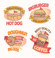 all fast food in one vector image