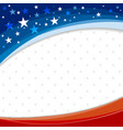 america or usa banner background design vector image