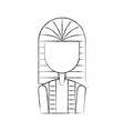 ancient egyptian tomb icon vector image vector image