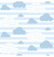 Baby boy seamless pattern Light blue fun vector image vector image