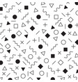 black and white geometric elements memphis style vector image vector image