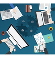 Business meeting flat design conceinfographic b209 vector image