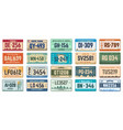 car number plates vehicle use states license vector image