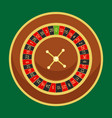 casino roulette wheel go round for risk game in vector image vector image