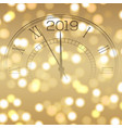 christmas or new year card with clock vector image vector image