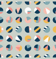 circle collage seamless pattern vector image