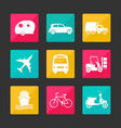 collection transport icons vector image vector image