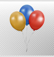 color bunch of balloon party baloon with r vector image