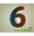 Color Transparency Symbol 6 vector image vector image