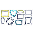 colorful patterns frames vector image vector image