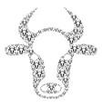 cow head icon figure vector image