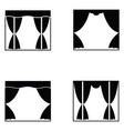 curtain icon set vector image vector image