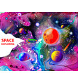 drawing planets and space vector image vector image