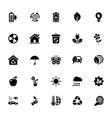 eco glyph icon pack vector image