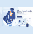 flat modern design data analysis vector image vector image