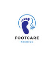 foot feet podiatric care logo icon template vector image