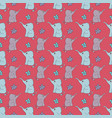 funny hand-drawn seamless pattern with elephants vector image