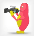 Funny monster cameraman vector | Price: 3 Credits (USD $3)