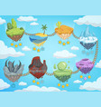game level map mobile ui stages with various vector image vector image