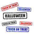 halloween stamp words design vector image