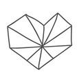 hand drawn geometric scandinavian velentines day vector image