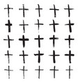 Hand painted christian crosses