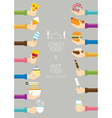 Hands Holding Food vector image