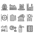 House rent black line icons vector image vector image