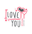 i love you logo template original design colorful vector image vector image