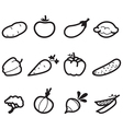 Icons vegetables vector image