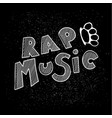 inscription lettering rap music stylized in vector image vector image