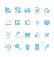 line with blue background print industry icons vector image