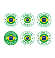 made in brazil labels set federative republic vector image vector image