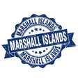 marshall islands round ribbon seal vector image vector image